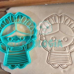 Cortador de galletas de muñeca